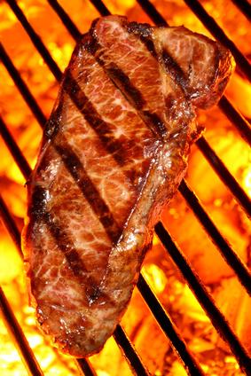 Sirloin Steak auf dem Grill